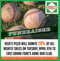 Baseball Fundraiser-Deeks Pizza-4/9/19