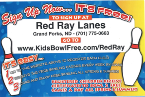 Free Summer Bowling Ages 2-15