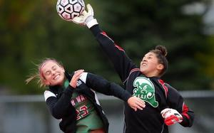 GF Herald Article on Kadyn Melquist-Girls Soccer Goalie