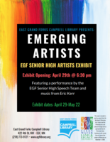 Art Exhibit-Campbell Library April 29th-May 22nd