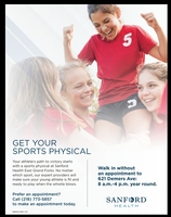 Sanford Sports Physicals
