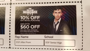 Tip Top Tux Coupon!