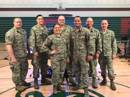 Raptor-Air Force Rock Band Performs at Senior High